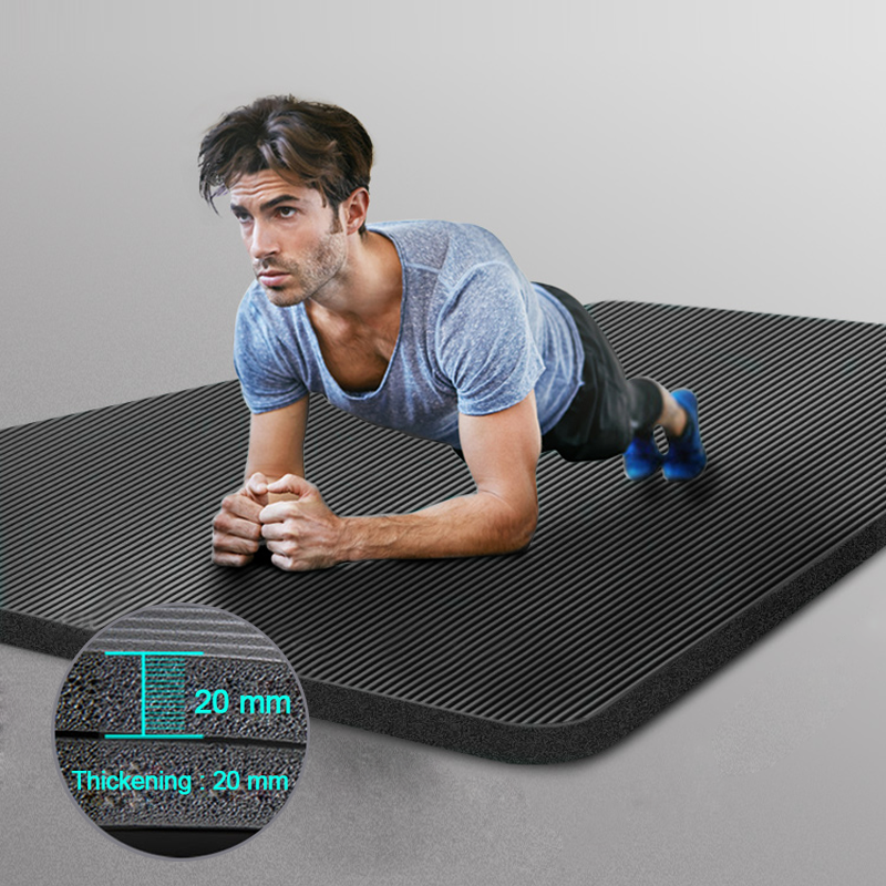 Men Gym Plus Size Yoga Pilates Mats NBR Non-slip Exercise Tapete For Women 10-20mm Thick Fitness Sport Pad Workout Mat