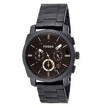 Fossil Watch Men Machine Mid-Size Chronograph Watch with Black Stainless Steel Wristwatch mens watches top brand luxury FS4682 fossil chase timer chronograph wristwatch mens with stainless steel mens watches top brand luxury fs5542p