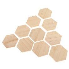 10x mdf 木製拠点六角六角カットゲームの小道具装飾 90x78mm