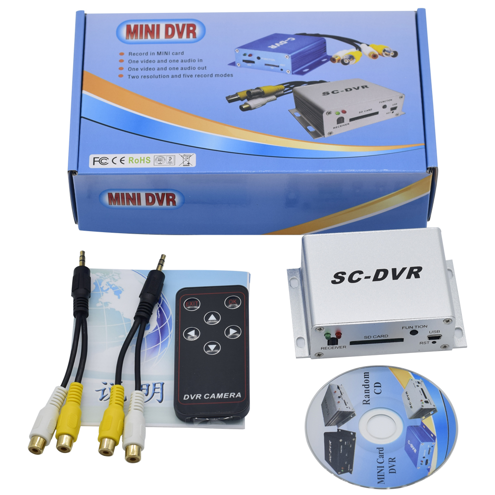 New SD Card Mini DVR Video Recorder Support 32GB SD Card Real time video Record Motion Detection Alarm in/out VGA 640*480