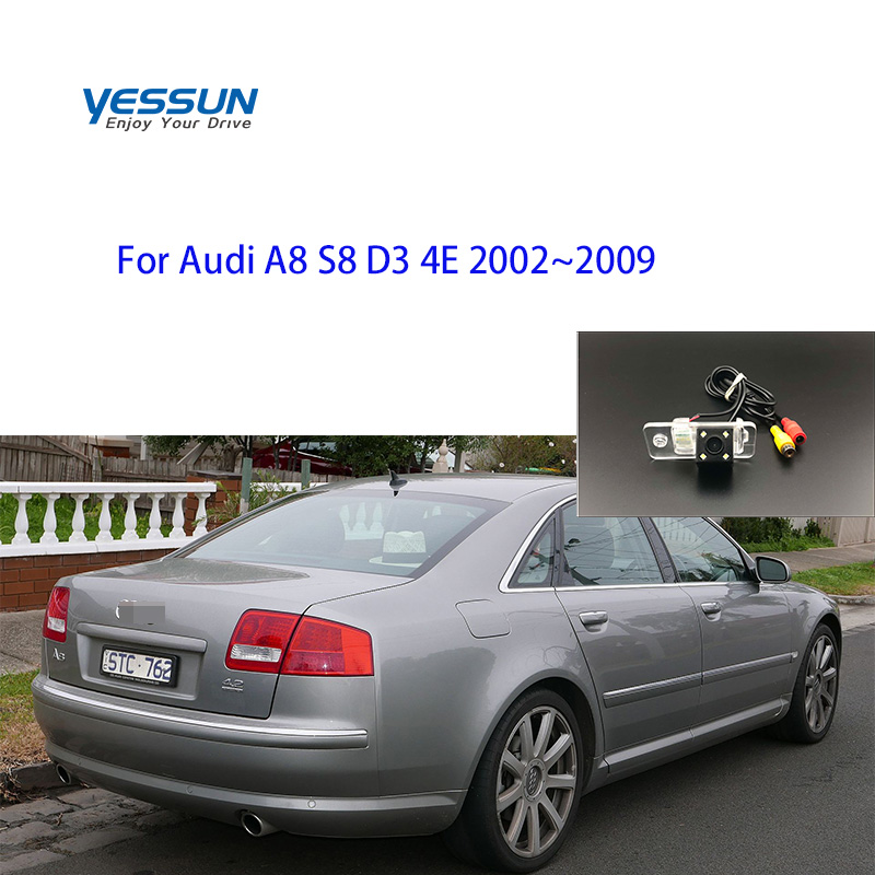 Rear camera for <font><b>Audi</b></font> <font><b>A8</b></font> S8 <font><b>D3</b></font> <font><b>4E</b></font> 2002 2003 2004 2005 2007 3008 2009 Car CCD Night Vision Backup Waterproof Parking Assistance image
