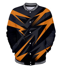 Jacket Patchwork-Color Baseball WAMNI Men Uniform Sportwear Geometric Hip-Hop 3D Thin