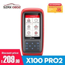 Xtool X100 Pro Auto Key Programmer Mileage Adjustment X100 PRO2 ECU Reset Code Read Car Tools Support Multi-language Update Free