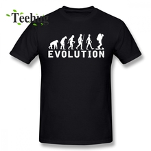 Cool Backpacking Man Evolution Tee Shirt Men 2018 New Design For Traveler Tourist T