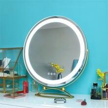 Золотой светодиодный сенсорный Сенсор макияж зеркало светильник