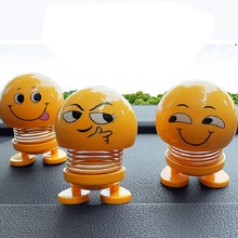 Cute doll - swinging around spring base can be pasted expression gift WHH Childrens toys
