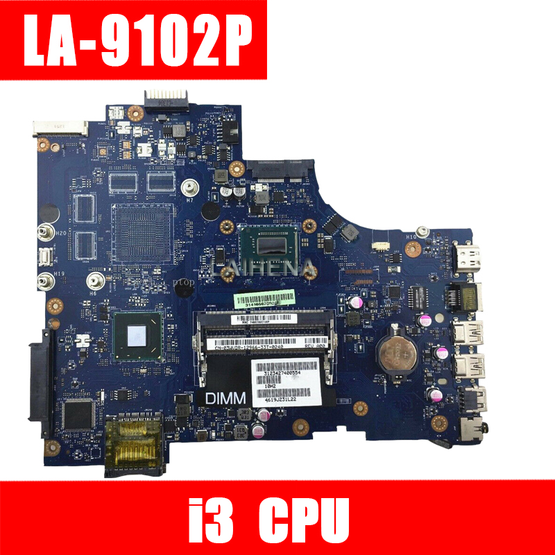 VAW11 LA-9102P REV: 1.0 FOR Dell Inspiron 3721 5721 Laptop Motherboard CN-06006J I3 Original CPU Mainboard