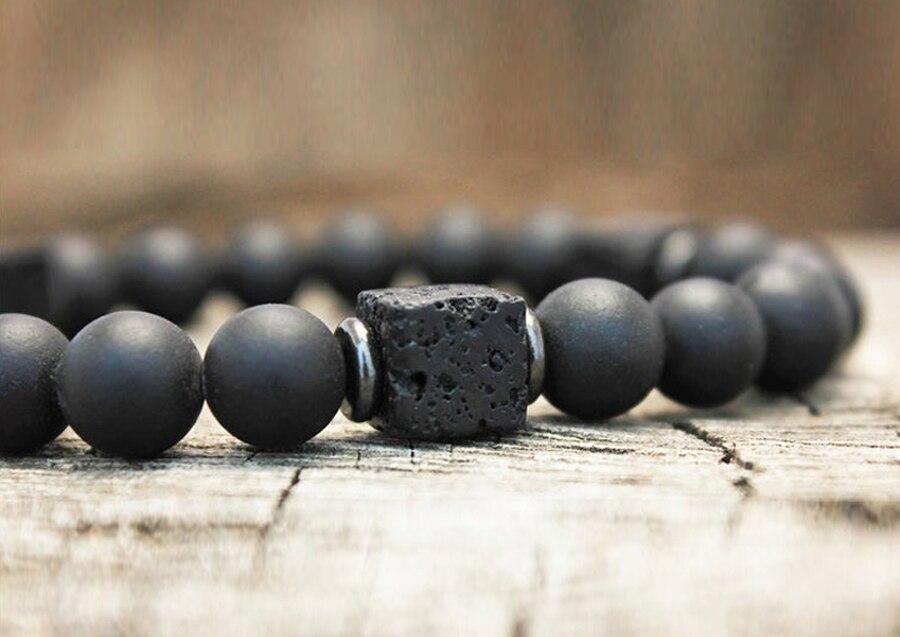 Hd4294e20bd2f46edb9aeb1aba6d637d5f Men Bracelet Natural Matte Stone Hematite Beads Bracelets