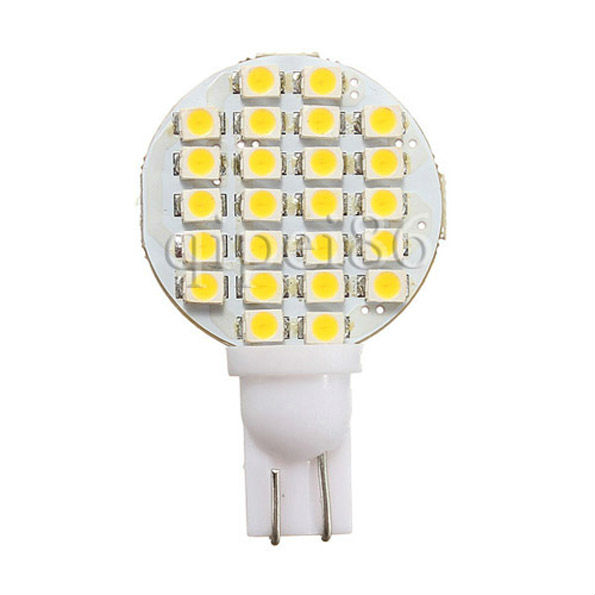 10x <font><b>T10</b></font> 194 158 168 501 921 W5W <font><b>24</b></font> 1210 <font><b>SMD</b></font> LED Warm White RV Trailer Landscaping Dome Interior Light Bulbs image