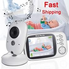 Wireless Baby Monitor 3.2 inch LCD IR Night Vision 2 way Talk 8 Lullabies Temperature monitor video nanny radio baby camera
