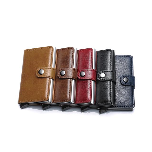RFID Blocking Men's Wallet Automatic Lock
