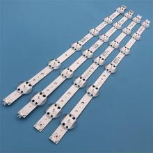 New Kit 4 PCS LED strip For LG 49UV340C 49UJ6565 49UJ670V 49 V17 ART3 2862 2863 6916L 2862A 6916L 2863A V1749L1