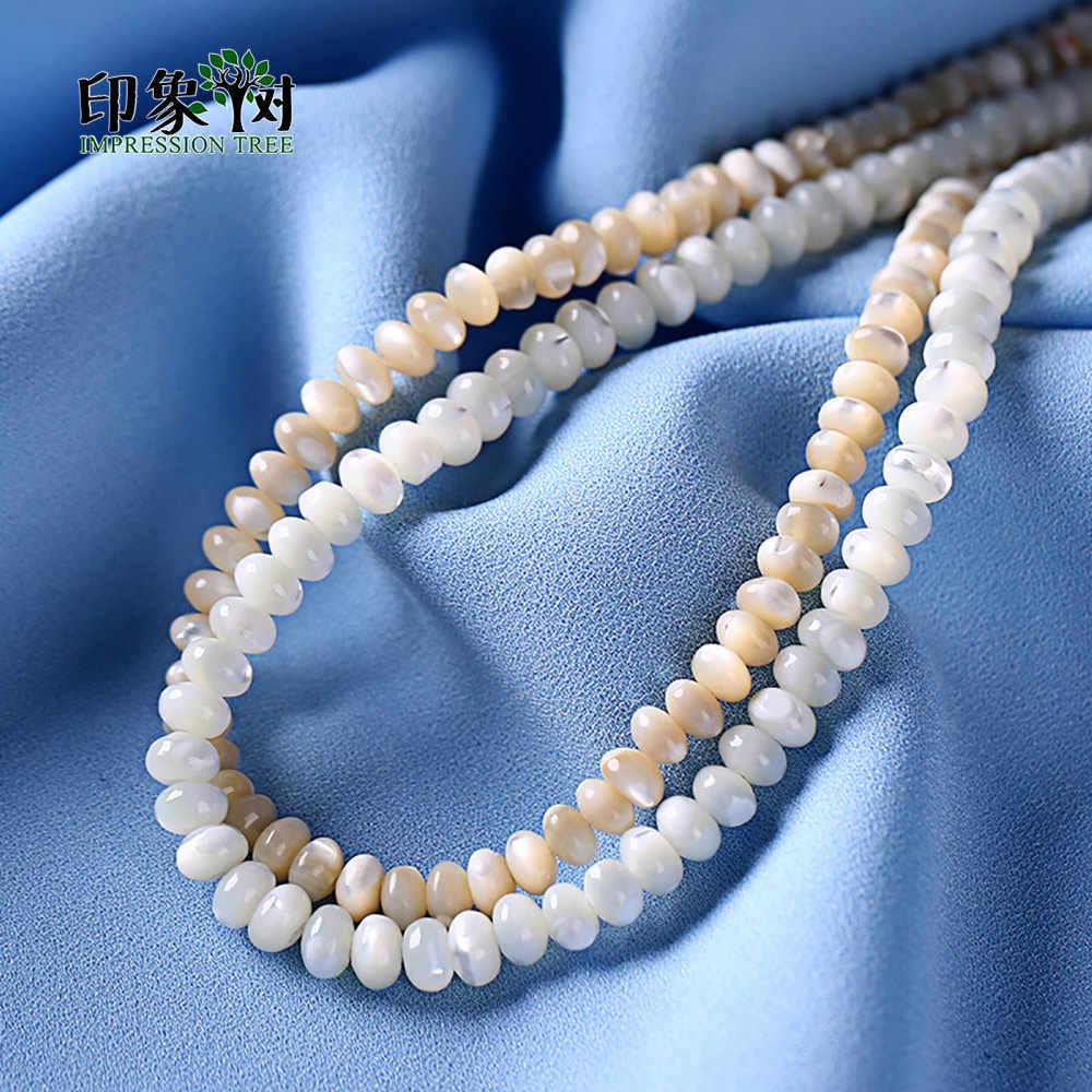 1 pc 6x4mm strand puro natural trochid concha concha espaço polido talão colar pulseira diy jóias fazendo 19033