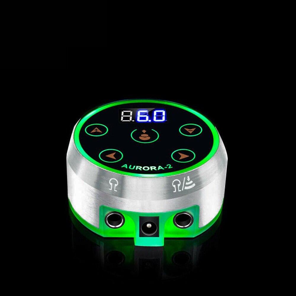 Mini AURORA II LCD Tattoo Netzteil mit Power Adapter für Spule & Rotary Tattoo Maschinen Neue Professionelle