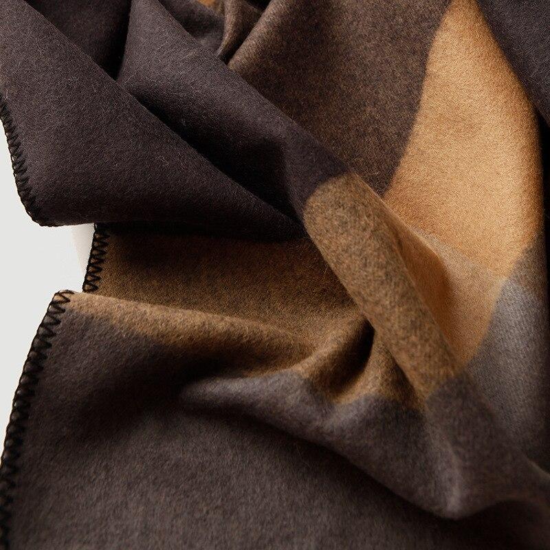 Чистое 100% шерстяное Клетчатое одеяло утяжеленное плотное высококачественное одеяло для пикника и путешествий Клетчатое одеяло с узором для кровати и дивана - 4