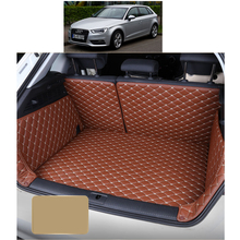Lsrtw2017 Leather Car Trunk Mat Cargo Liner for Audi A3 2012 2013 2014 2015 2016 2017 2018 2019 Rug Carpet Accessories sportback