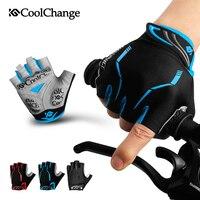 CoolChange-Guantes de ciclismo de medio dedo para hombre y mujer, Protector de manos para verano, resistente a impactos, con gel, para ciclismo de montaña