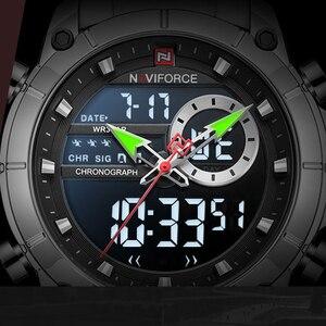 Image 4 - ファッション naviforce 男性高級新デザイン防水時計男性のステンレス鋼腕時計リロイ hombre クォーツ時計男性
