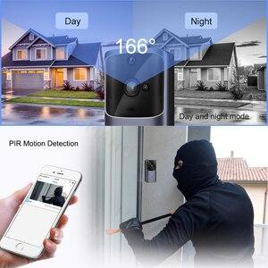 Image 4 - WIFI Türklingel Smart Home Drahtlose Telefon Tür Glocke Kamera Sicherheit Video Intercom 720P HD IR Nachtsicht Für Wohnungen