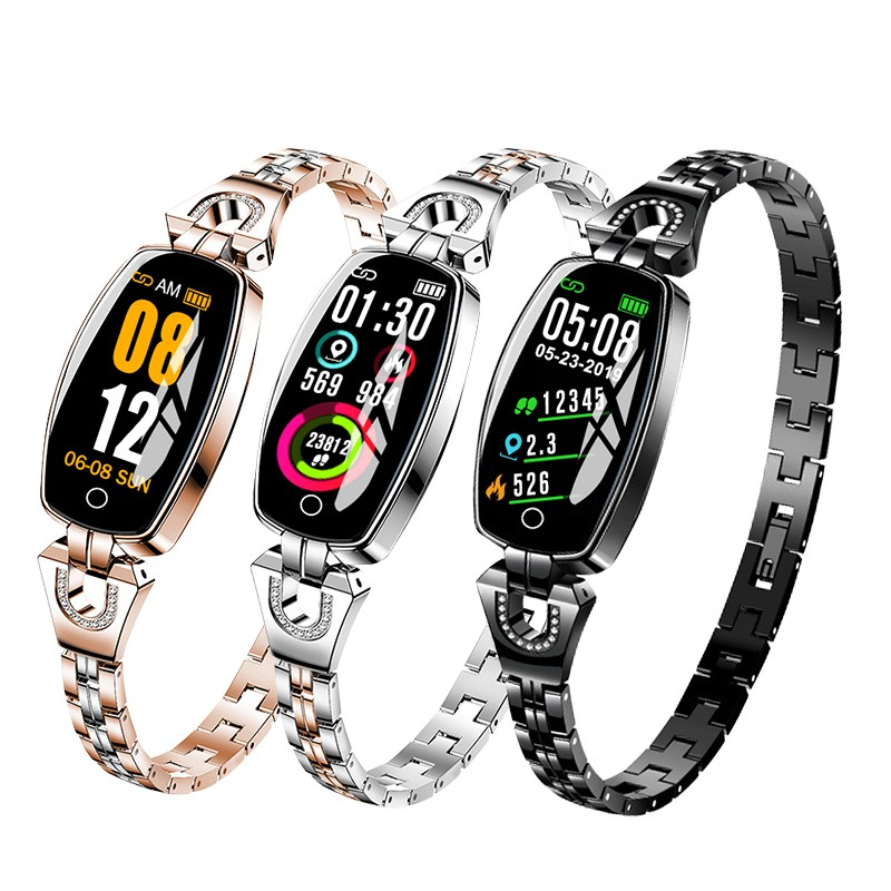 Lady Womens Smart Watch Band Bluetooth Elegant Waterproof Heart Rate Monitor Bracelet Fitness Tracker Smartwatch For Android IOS