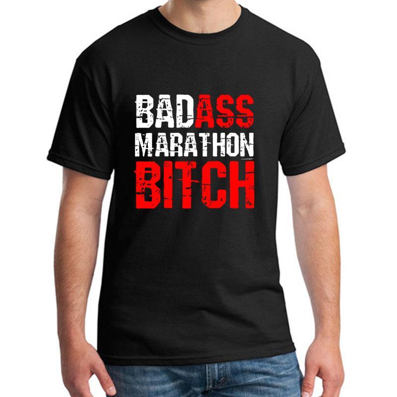 >Graphic Badass Marathon Bitch T Shirt Women Shirt t shirt s-5xl Formal Comical Knitted <font><b>mens</b></font> <font><b>tshirts</b></font> <font><b>Crew</b></font> Neck HipHop Tops