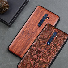 For OPPO Reno 2 Case Boogic Original Wood funda OPPO Reno Z Reno 10X ZOOM Ace X2 pro Rosewood Cover Phone Case For OPPO Reno2(China)