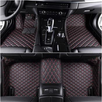 Custom 5 Seat car floor mats for vw Tiguan Touran Touareg all models car mats auto accessories