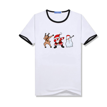 Funny Santa Claus Reindeer T-Shirt Happy New Year Parent-child T-Shirt Merry Christmas Lovers Gift Men/woman/kids Tshirts image