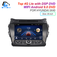 IPS screen DSP sound Android 9.0 2 DIN 4G Lte radio For hyundai IX35 IX45 GPS DVD player stereo navigation