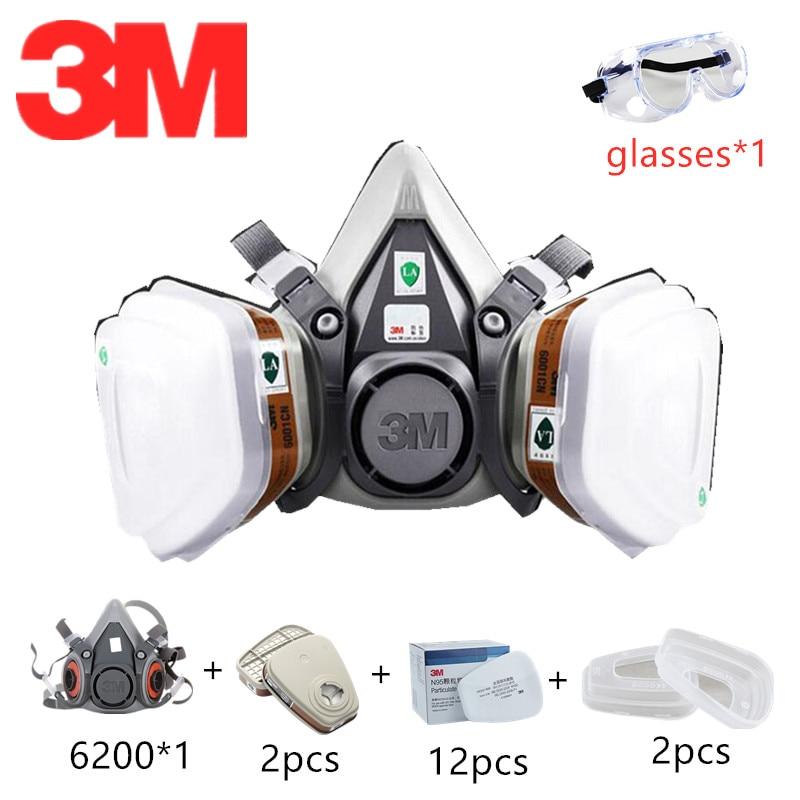 3m gas mask 6200