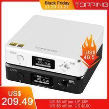 토핑 d50s csr8675 블루투스 5.0 es9038q2m 오디오 디코딩 usb dac xmos xu208 dsd512 32bit/768 khz opa1612 usb/opt/coax 입력