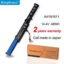 KingSener 14.4V 48WH A41N1611 GL553 GL553VD GL553VE GL553VW Series Da Bateria Do Portátil Para ASUS ROG A41LK5H A41LP4Q