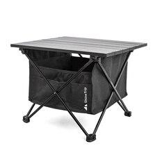 Folding-Table Fishing Picnic Outdoor Camping Desk Ultra-Light Aluminum-Alloy Mini
