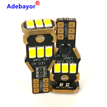 100PCS T15 921 W16W 9 SMD 5630 5730 CANBUS LED אוטומטי נוסף בלם מנורת גיבוי הפוך אורות רכב בשעות היום ריצה אור