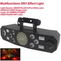 Professionnel 5IN1 motif effet RGBW Audio étoile tourbillon Laser projecteur scène Disco DJ Club barre KTV famille fête lumière spectacle
