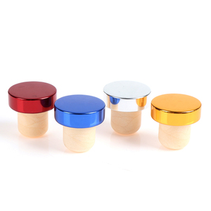 1pc T-shape Red Wine Stoppers Cork Bottle Plug Kitchen Bar Tool Sealing Cap Corks