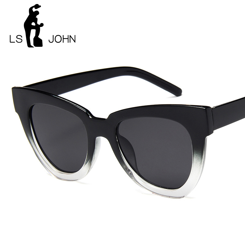 LS JOHN Cat Eye Vintage Sunglasses Women 2019 Fashion Leopard Sun Glasses Sexy Ladies Eyewears UV400 Goggles Oval Glasses