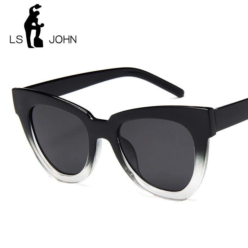 LS JOHN Cat Eye Vintage Sunglasses Women 2019 Fashion Leopard Sun Glasses Sexy Ladies Eyewears UV400 Goggles Oval Glasses