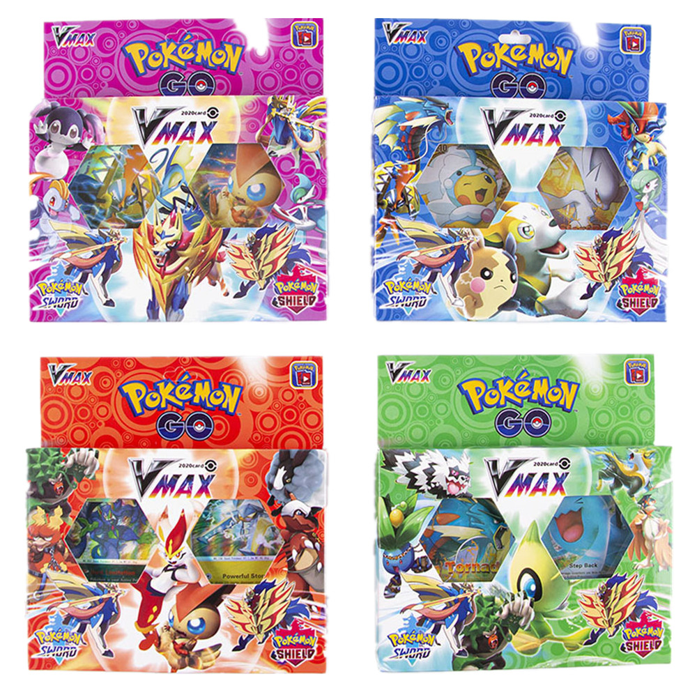 54Pcs/box Pokemon Go Sword & Shield Vmax Cards Collectible Trading Card Game Toys