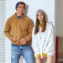 Осенняя и зимняя новая стильная мужская одежда, одноцветная толстовка с капюшоном, Мужская популярная брендовая толстовка с логотипом, настраиваемый принт, Офисная версия