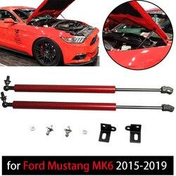 Damper for Ford Mustang MK6 2015-2019 2 szt. Przednia maska kaptur siłowniki pneumatyczne sprężyna gazowa z włókna węglowego amortyzatory