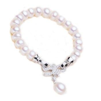 925 Natural Pearl Bracelet Fashion Bracelet Jewelry Pearl Jewelry