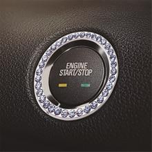 Kryształ przycisk uruchamiający/wyłączający silnik samochodu pierścień kluczyka zapłonu dla BYD wszystkie modele S6 S7 S8 F3 F6 F0 M6 G3 G5 G7 E6 L3