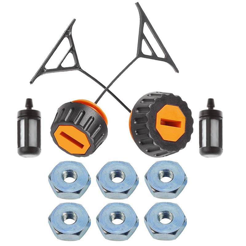 New Fuel Cap + Oil Cap + Sprocket Cover Bar Nut For Stihl 020 020T 021 023 024 025 026 028 034 034S 036 038 048 Chainsaw