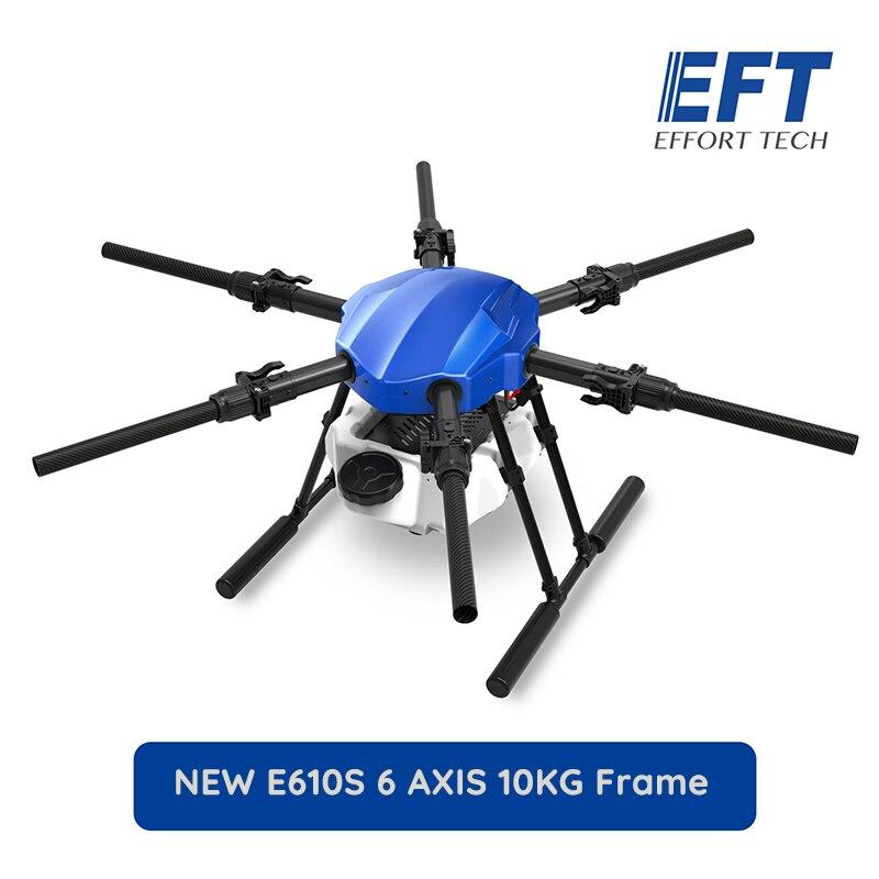 EFT New  E610S 10KG 1404mm Wheelbase Flight Platform Waterproof Agricultural Spraying Drone 10L