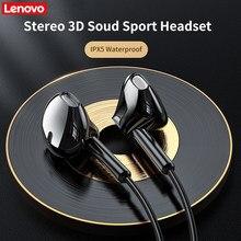 Lenovo xf06 fone de ouvido bluetooth 5.0 sem fio magnético neckband ipx5 à prova dwaterproof água esporte com cancelamento ruído mic