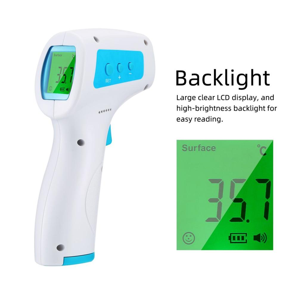 Handheld Frontal Temperature Gun Non-Contact Infrared Thermometer High Precision Thermometer Industrial Temperature Meter