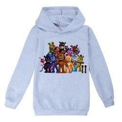 2-13y meninos meninas roupas cinco noites em freddys crianças moda t-shirts dos desenhos animados hoodies crianças camisola de algodão