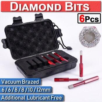 цена на 6 pcs Hole Saw Drill Bit For Tile Ceramic Marble Glass Diamond Drill Bit Set Drilling Core Bits Diamond Core Bit Hole Saw D30