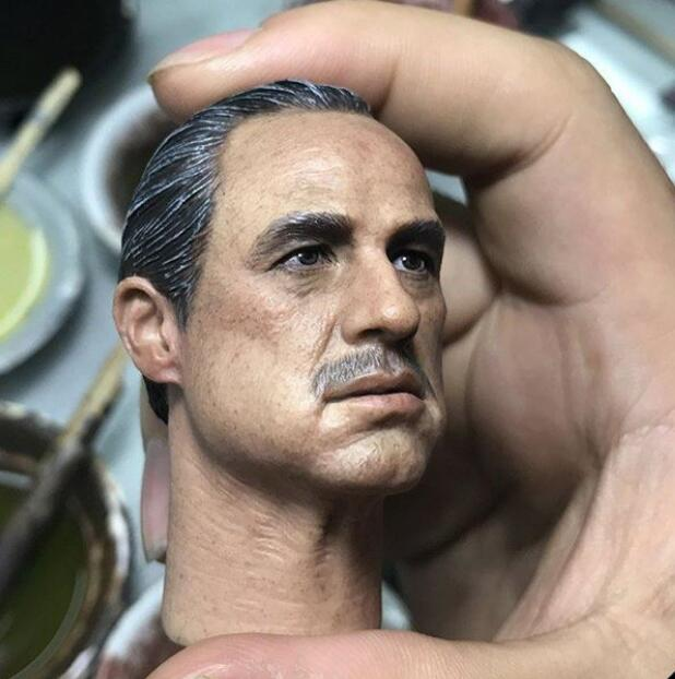 """Carved Head Sculpt Model F 12/"""" Male Figure 1//6 Godfather Al Pacino Youth Ver"""